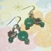 Sterling Silver Green Gemstone Beads Earrings