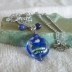 Lampwork Bead with Sodalite Beads Necklace