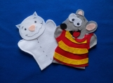Toopy and Binoo felt hand  Puppets
