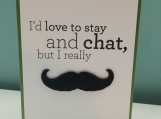Birthday Card - Male - November - Mustache - Greeting Card