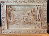 3D CNC Carved Wall Hanging