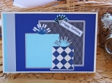 Blue, White and Black Present Card for Him