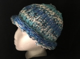Multi-color adult winter hat.