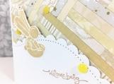 Bunny Balloon Baby Shower Card