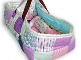 Patchwork Baby Doll Carrier, Baby Doll Bed with pillow + blanket