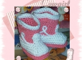 Boutique Crochet Cowboy Cowgirl Baby Booties