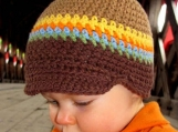 1-2 years Cotton Nature Stripe- Bebop Brim TM Hat