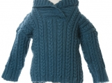 Baby Cable Sweater with a Hoodie, The Alexander