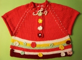 Colorful Knitted Poncho / Jacket for a Girl