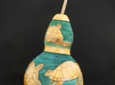 Hand-Carved Gourd, Sea Turtle