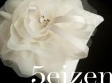 Bloomi Series V - Ivory Bloom Wedding Ring Pillow