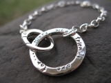 Journal Circle Bracelet . sterling silver . personalized words