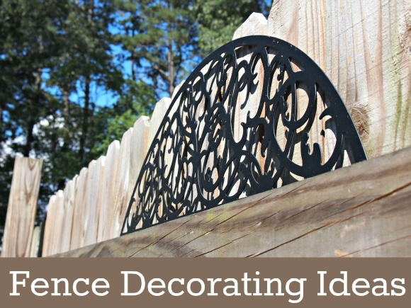 Backyard Fence Decorating Ideas 15 silver tray Great Backyard Fence Decorating Ideas Outdoor Wall Art De With