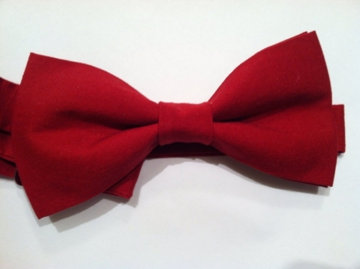 Mens, boys, womens classic red bow tie // Wedding bow tie.