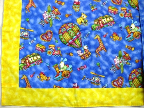 Blue Balloons Baby Quilt by Elizanne