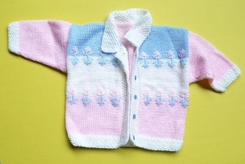 Handmade Baby Girl Sweater-Jacket (6 - 9 months)
