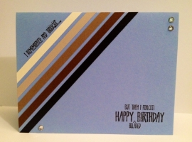 simple modern birthday card