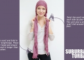 How to tie a turban using a long scarf