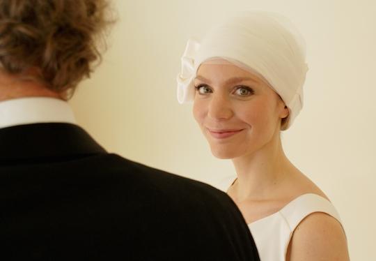 Suburban Turban bridal headwear range for brides experiencing hair loss