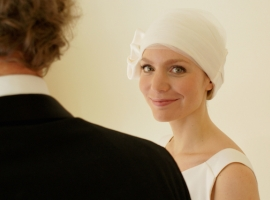Suburban Turban bridal headwear range for brides experiencing hair loss