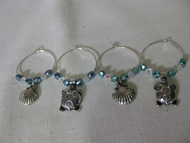 Wine charms, handmade.