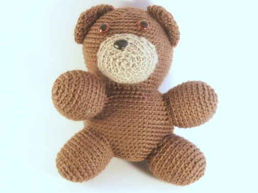 Amigurumi bear childs toy from Calming Stitches on iCraft