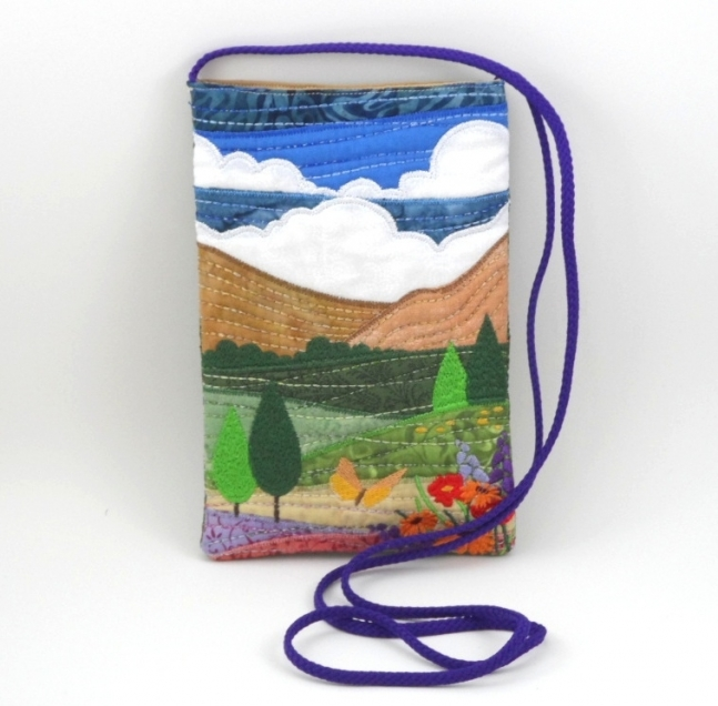 Sunshine Mini Cross Body Purse Quilted Landscape Bag