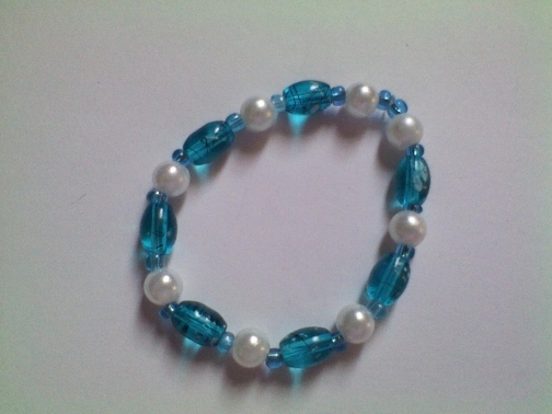 Turquoise and pearls bracelet by Dawn's Creations on iCraft