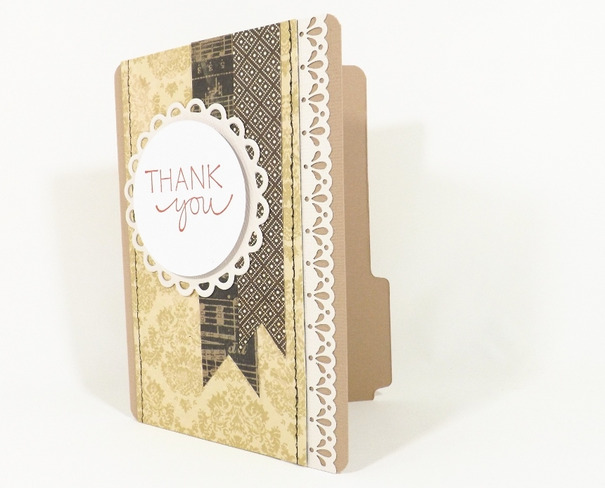File Folder Card Thank You Gift Card Holder By Fairy Cardmaker