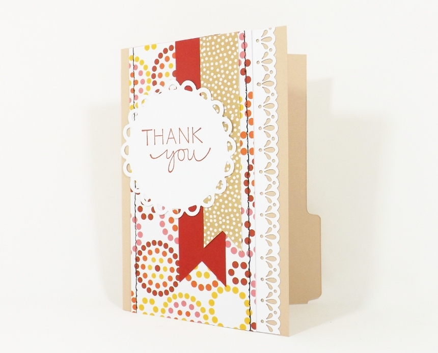 Thank You Card File Folder Gift Card Holder By Fairy Cardmaker