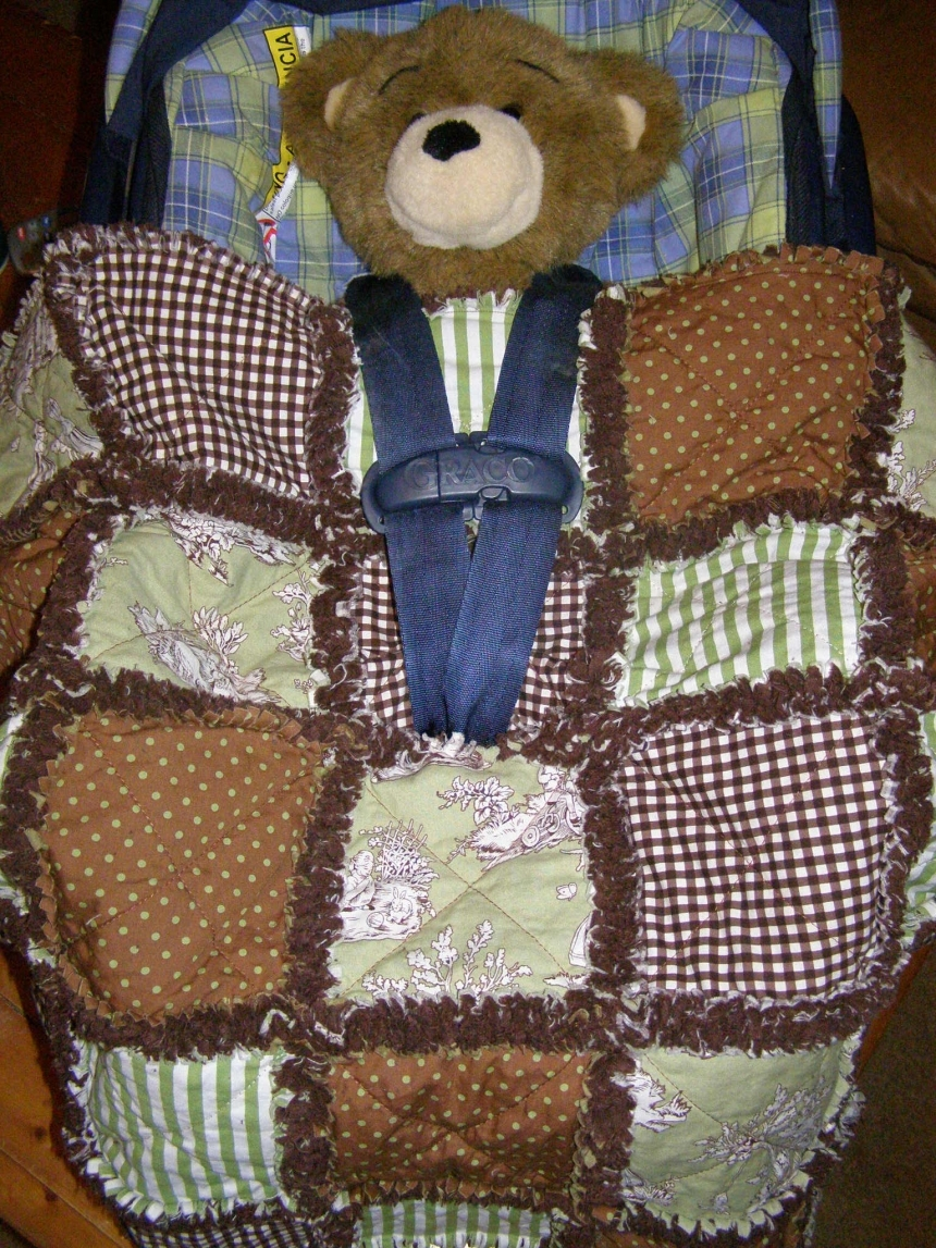 Custom Baby Car Seat Covers >> Custom Baby Car Seat Rag Quilt Cover - You Pick Design, Colors, Theme