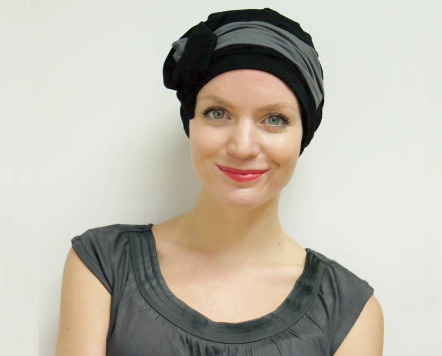 Stylish chemo hat - pre-tied turban for cancer patients c7b149dab97