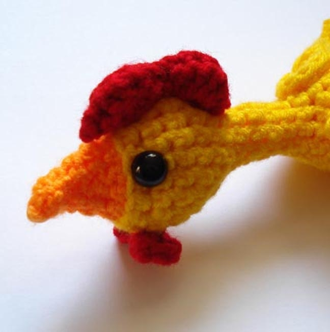 Pattern - rubber chicken amigurumi by These Loving Hands