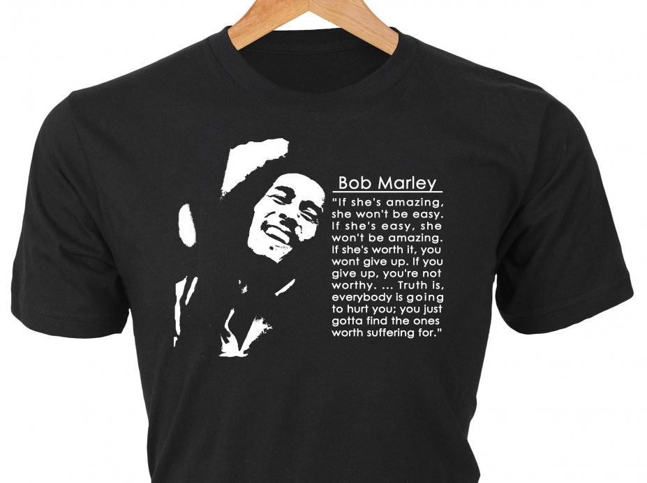 If Shes Amazing She Wont Be Easy Bob Marley T Shirt