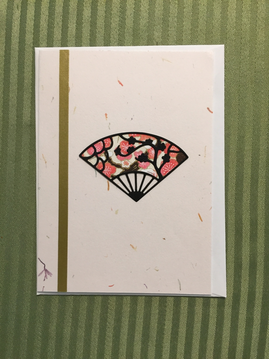 japanese fan cardmelissacraftemporium greeting cards