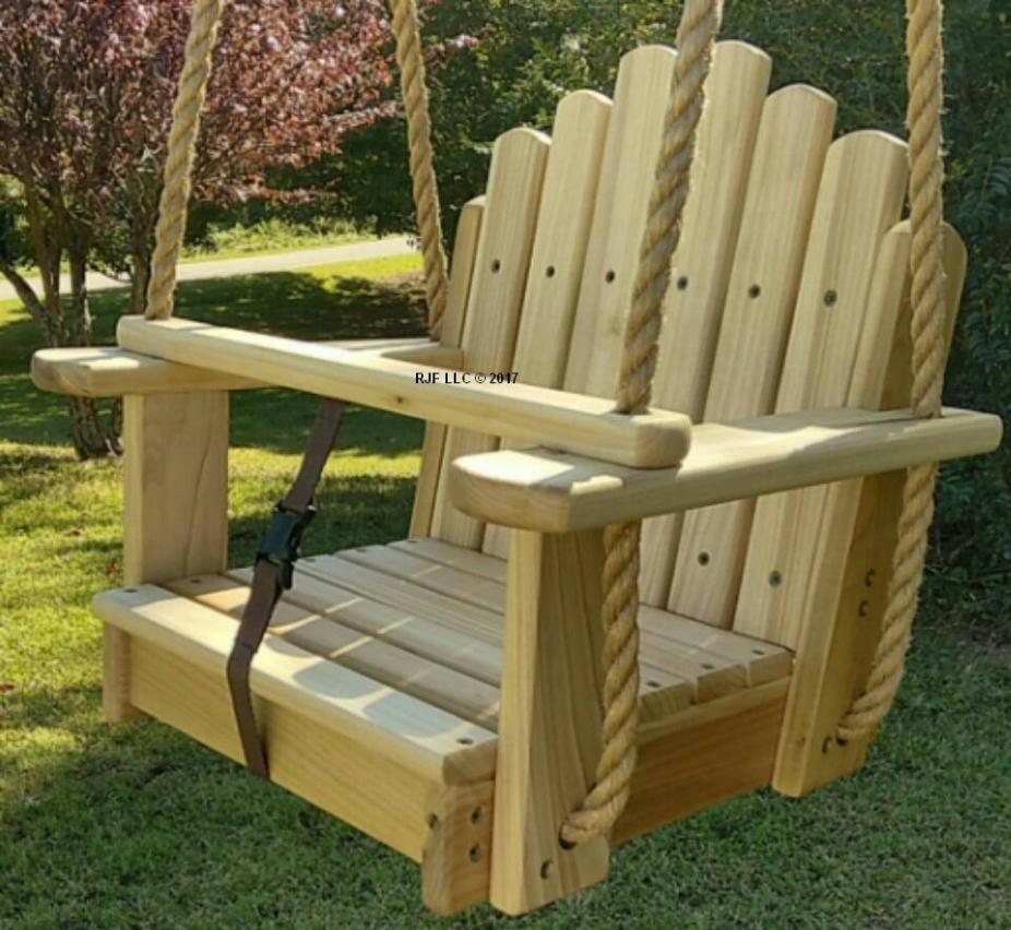 Wood Tree Swings- Sun Burst Poplar Toddler Seat w/ 11 feet ...