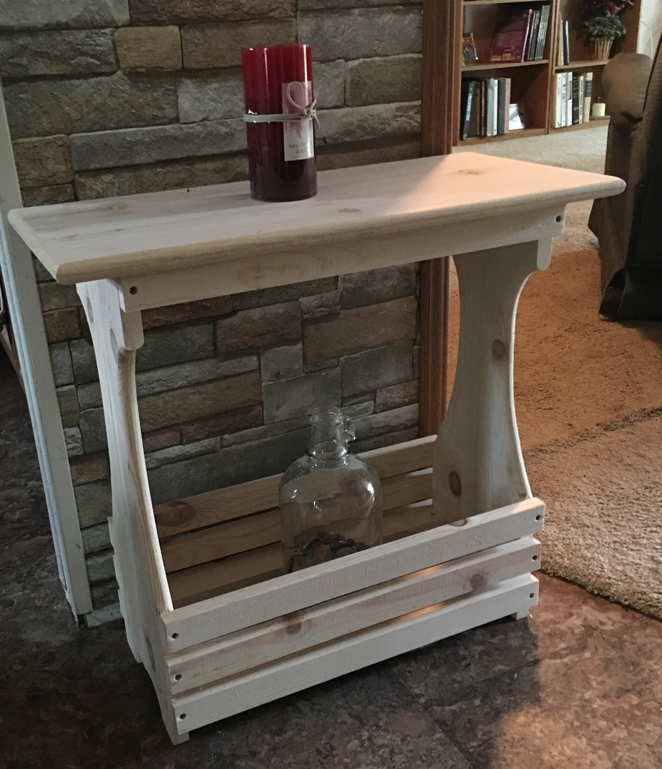 White Pine Rack Table By Picwood Usa Handmade Furniture