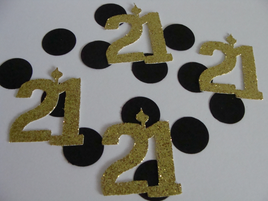 21st Birthday Confetti Party Decorations Scrapbooking Die Cut