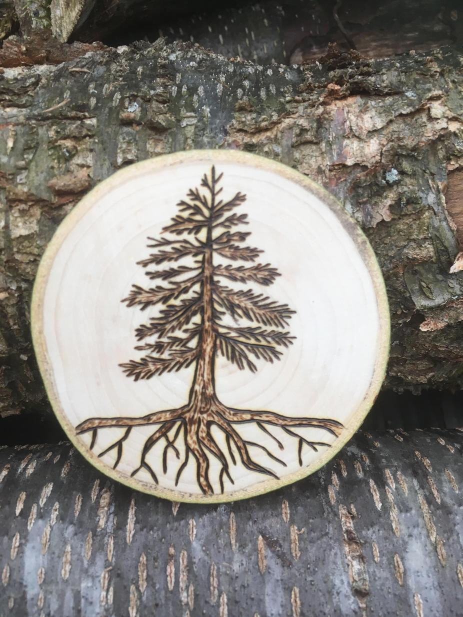 Pine Tree Magnet Woodland Kitchen Decor Wood