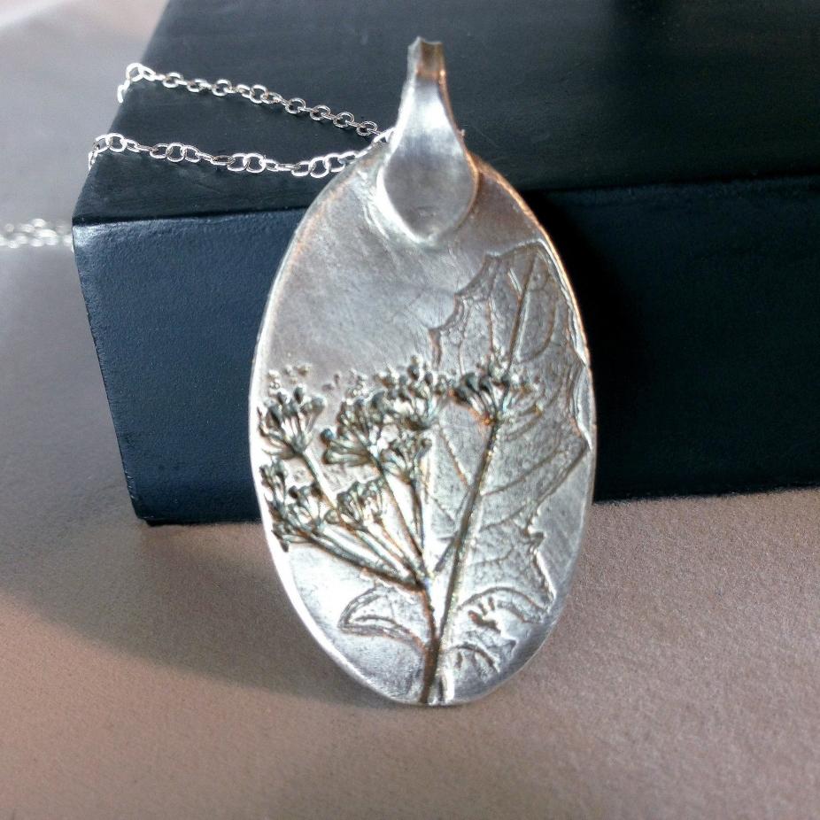 Silver Dandelion Leaf Amp Wishes Pendant Silver Necklace
