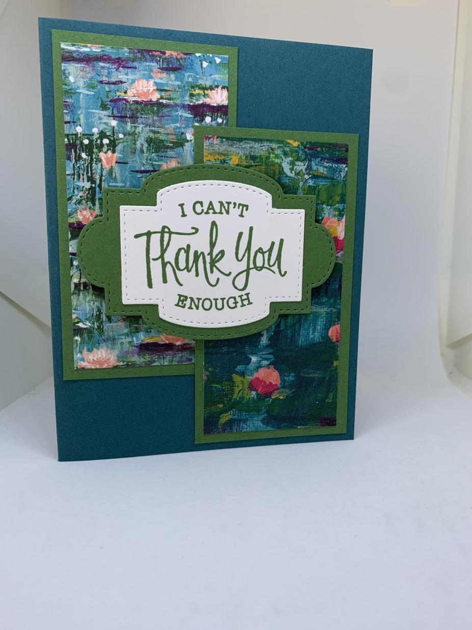 handmade thank you card soft floral feminine
