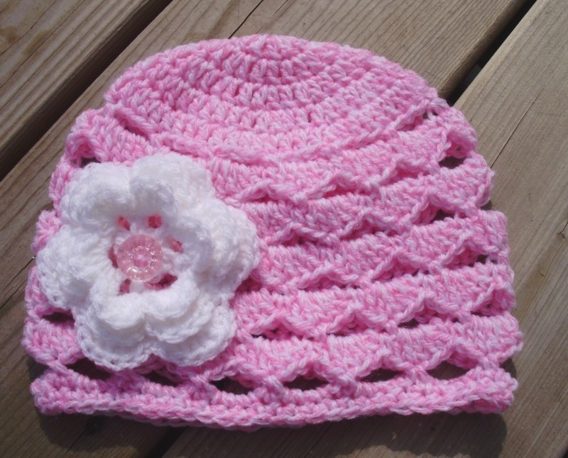 Free Shipping Boutique Beanie Skull Hat Flower Newborn Adult