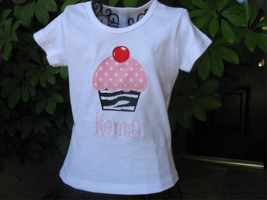 Personalized Birthday Cupcake Shirt