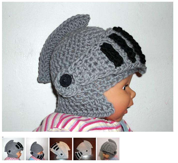 Knight Helmet Crochet Pattern Moveable Visor Face Mask