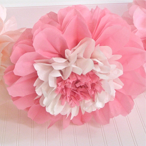 12 tissue paper flower blooms you pick colors zoom more images mightylinksfo