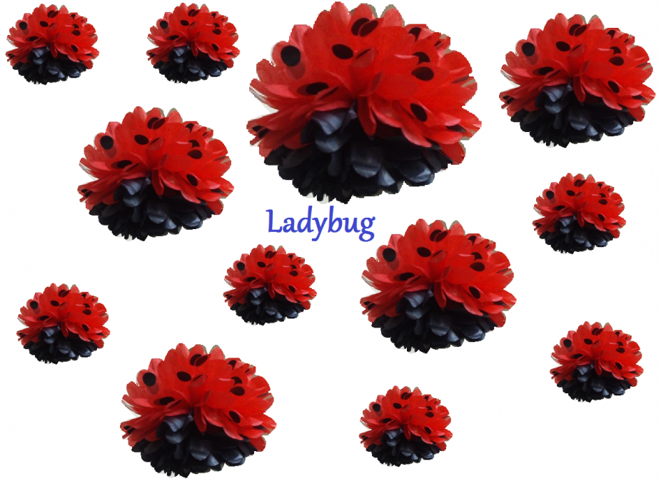 12 tissue paper flower pom poms you pick colors zoom more images mightylinksfo