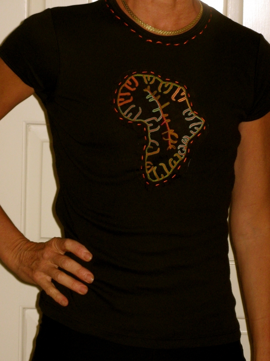 Authentic African Embroidery On Quality Custom T Shirts