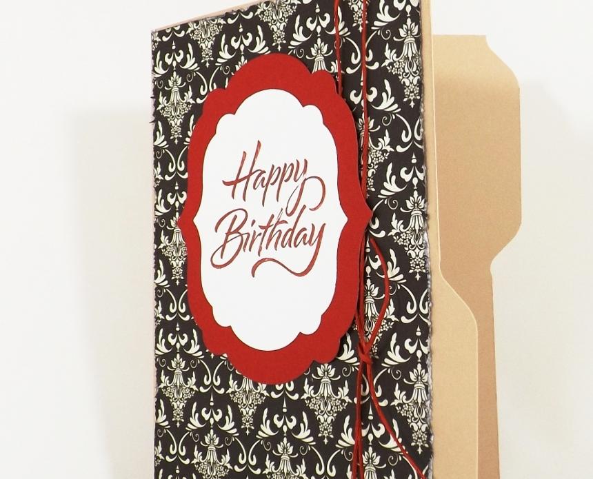 Birthday Gift Card Holder File Folder
