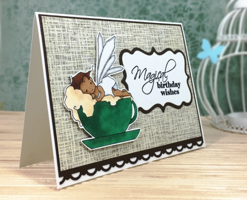 Coffee Lover Birthday Card African American Fairy