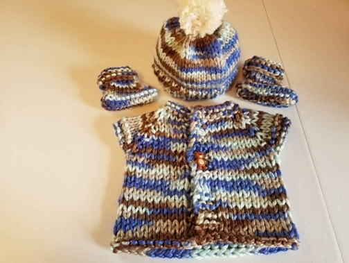 c242a0188 Hand knit baby sweater